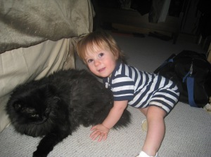 Landon (18 mos) and Clyde